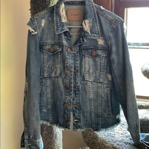 BlankNYC destructive jean jacket
